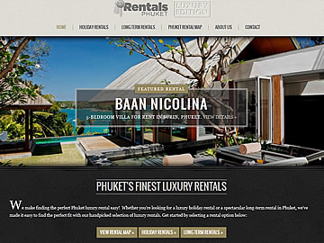 website design: phuket rentals